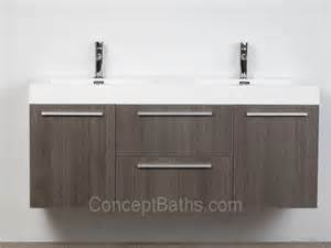 54 quot modern double sink vanity set with doors and drawers grey oak tn