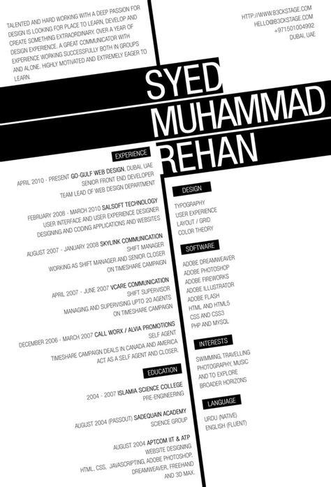 creative resume by b3ckstage on deviantart