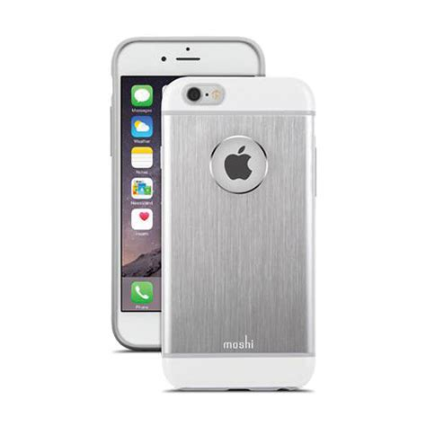 moshi iglaze armour for iphone 6 6s jet silver 99mo079201