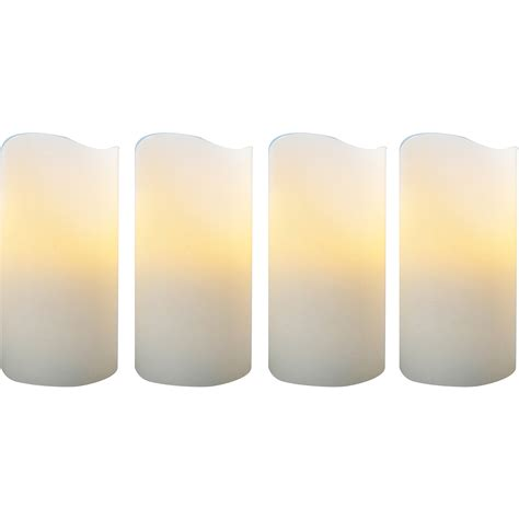 better homes and gardens flameless led pillar candles 4pk