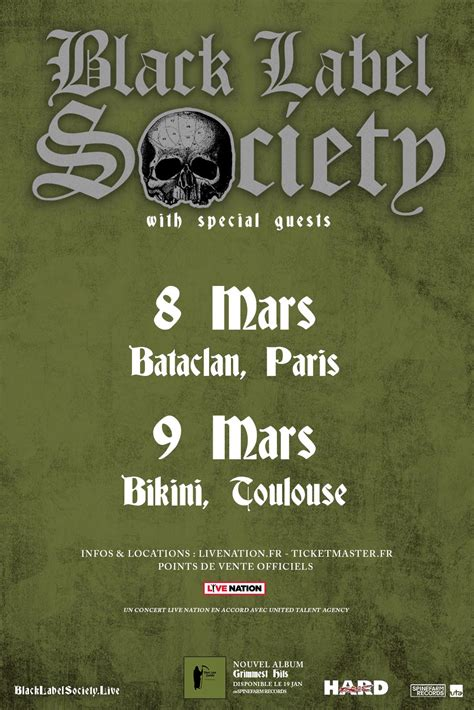 Black Label Society 2 black label society bient 244 t 2 concerts en move