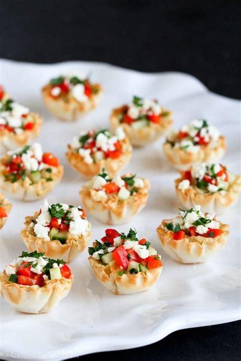 mini hummus roasted pepper phyllo bites recipe