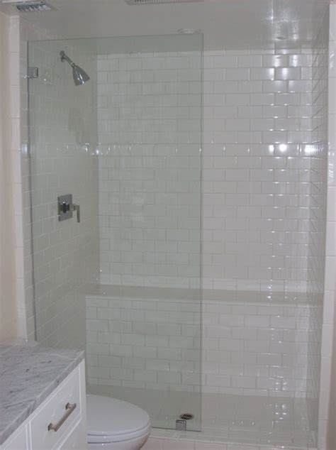 Glass Shower Panels by Frameless Glass Panel Shower Door Traditional Bathroom