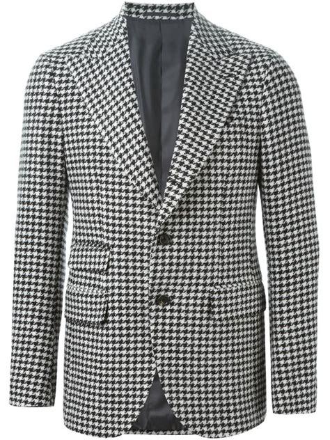 houndstooth pattern shirt mens gabriele pasini houndstooth pattern blazer in gray for men