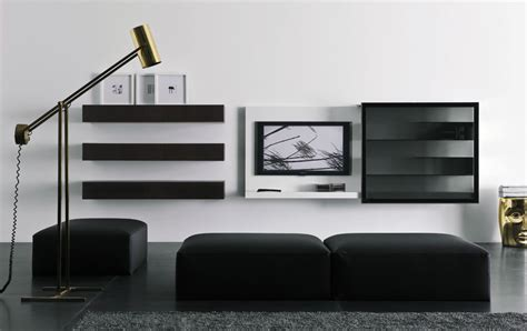 modern lacquered tv cabinets spazio box from pianca - Modern Wall Cabinet Designs