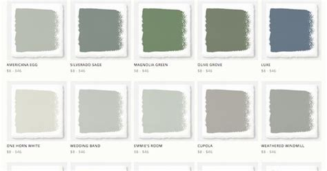 joanna gaines magnolia home paint line around the house 페인트 색