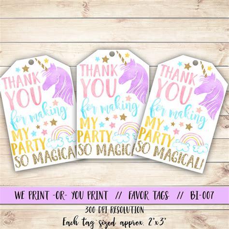 printable unicorn decorations unicorn favor tag unicorn birthday favor tag unicorn party