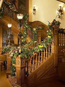 Christmas Decorations For Banisters Indoor Christmas Decorations Interior Design Styles And