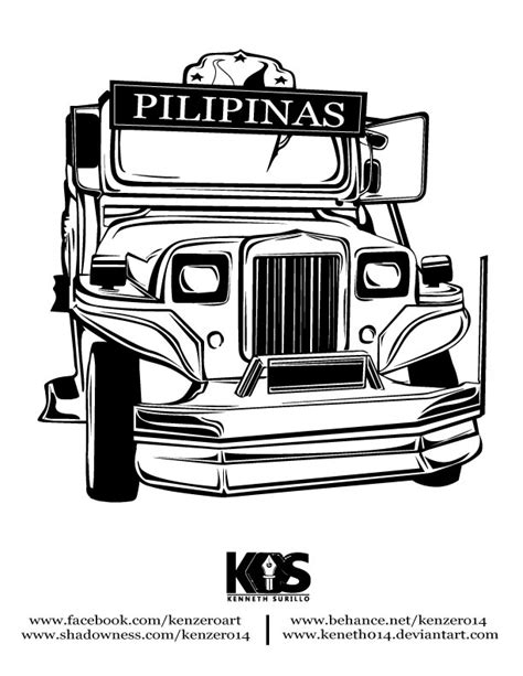 jeepney philippines drawing philippine jeepney by keneth014 on deviantart
