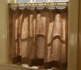 How To Make Kitchen Curtains How To Make Burlap Cafe Curtains Guest Post The Prairie Homestead