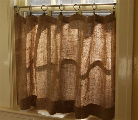 Cafe Curtains For Kitchen How To Make Burlap Cafe Curtains Guest Post The Prairie Homestead