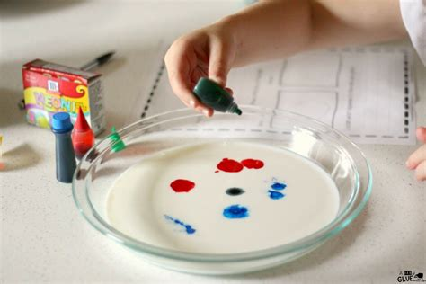 milk and food coloring science project magic milk science experiment