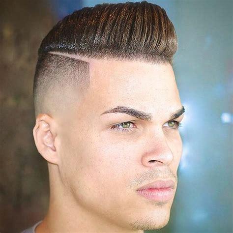 hair part with a line мужские прически с выбритыми боками