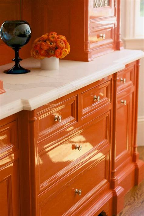 Lacquer Kitchen Cabinets by Maddie S Valet Vanity Idea Orange Lacquer Cabinets Go