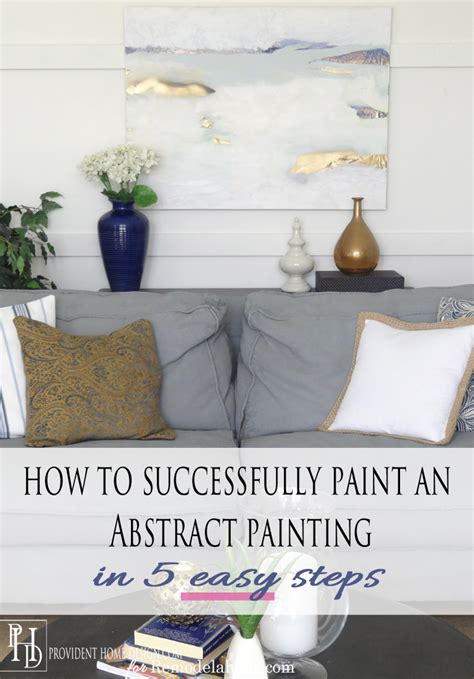 Ballard Designs Desk remodelaholic how to successfully paint an abstract painting