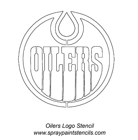 hockey coloring pages oilers stencil requests for january 2007
