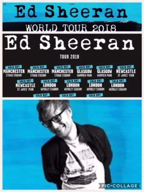ed sheeran australia ed sheeran tickets x2 manchester etihad stadium may 27th