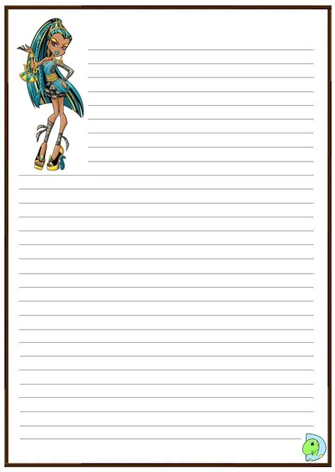 monster high handwriting paper dinokids org
