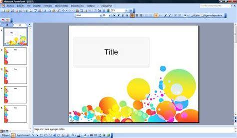 Plantilla Ppt Con Burbujas De Colores Plantillas Powerpoint Gratis Templates Para Gratis