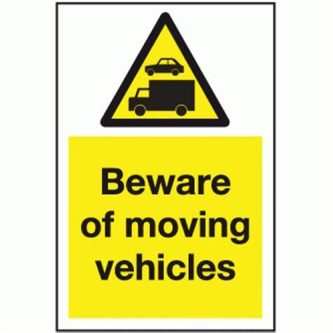 Garage Door Stickers beware of moving vehicles sign