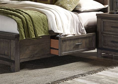 thornwood bedroom furniture thornwood hills rock beaten gray two sided panel storage