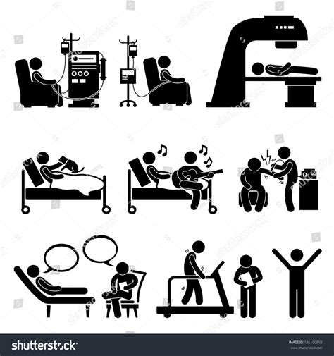 figure therapy quotes hospital therapy treatment stick figure stock