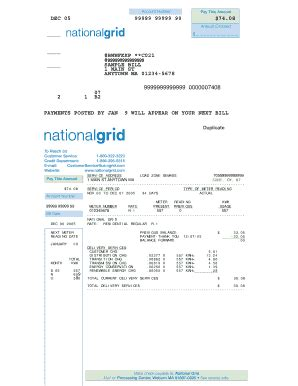 National Grid Mba by National Grid Sle Bill Fill Printable