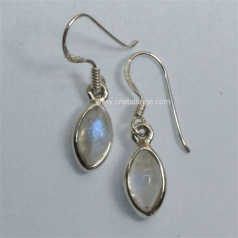Boucles oreilles pierre de lune Fidéline   bijoux cristalange lithotherapie