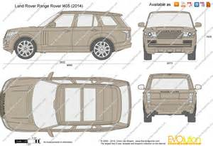 the blueprints vector drawing land rover range rover