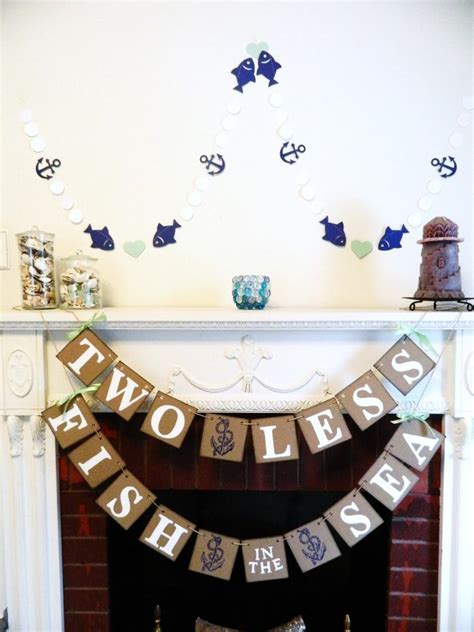 Two Less Fish In The Sea Banner   Nautical Wedding Decor