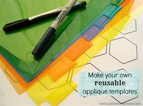 plastic hexagon templates how to make your own plastic hexagon template