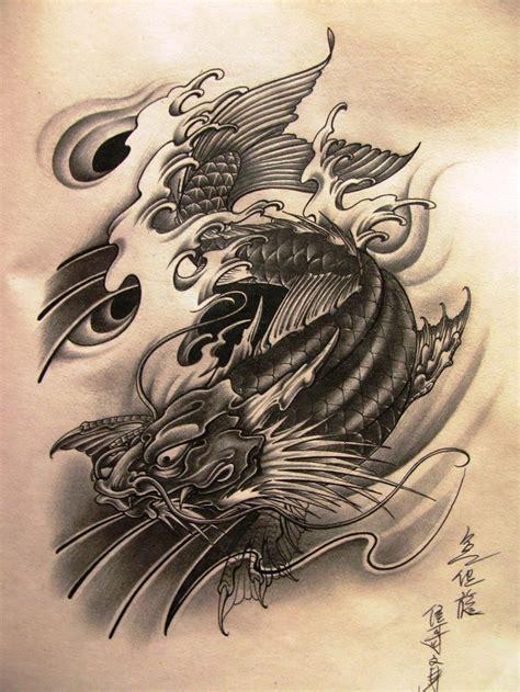 tattoo dragon koi fish designs koi search ideas