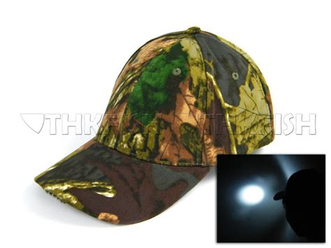 Light Camo 5 Led Lights Fishing Hat Vintage Camouflage Camo And Lights