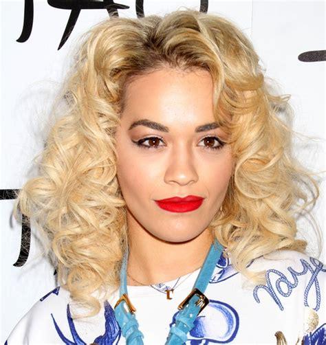 what lipstick does rita ora wear celebrities wearing bright lipstick photos