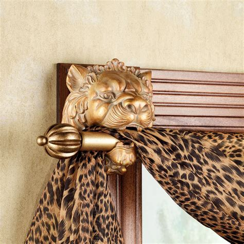 drapery holders lion head scarf holder pair
