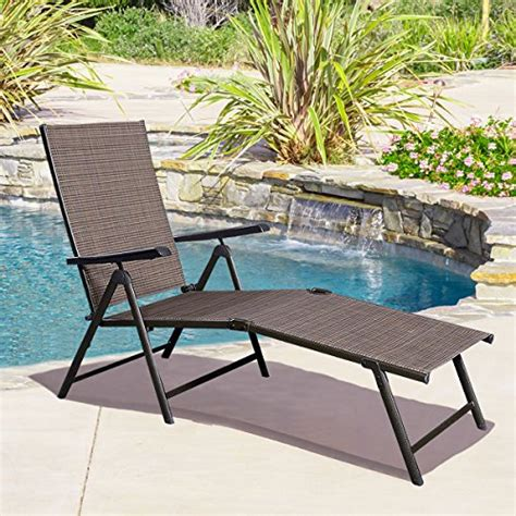cheap pool chaise lounge chairs giantex adjustable pool chaise lounge chair recliner