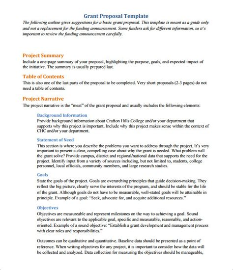 17 Proposal Outline Templates Doc Pdf Free Premium Templates Educational Grant Writing Template
