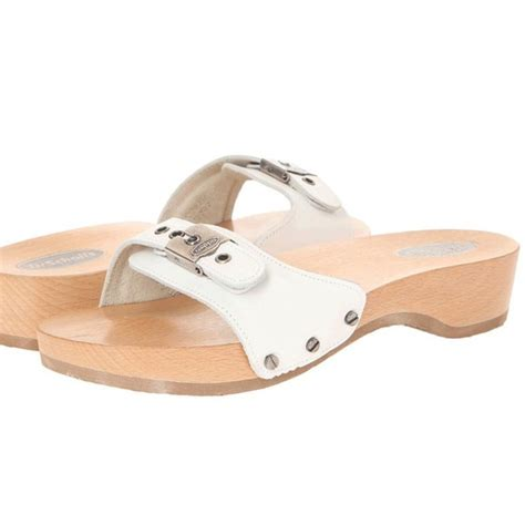 dr scholls wood sandals dr scholls shoes white dr scholls wooden sandals poshmark