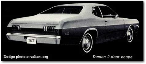 1972 Dodge Dart, Demon, and Swinger cars in detail