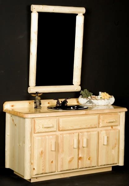Cabin Vanity by Log Bathroom Vanities Rustic Cabin Bathroom Vanities