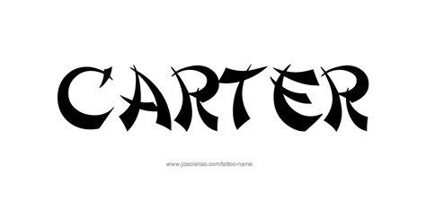carter tattoo name designs