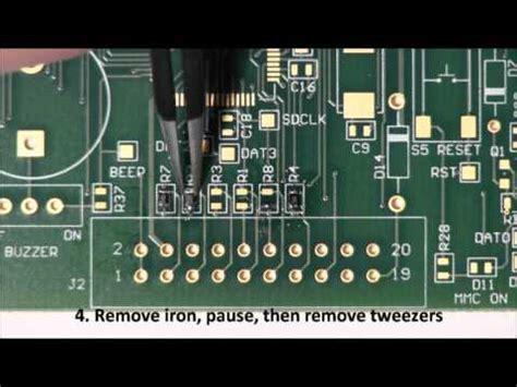 soldering 0603 resistor soldering 0603 resistor
