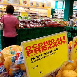 prezzo alimenti autunno far 224 al supermercato prezzi alimentari sulla