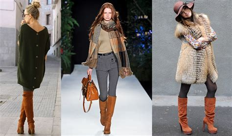 with what to wear womens brown boots in trend fall winter