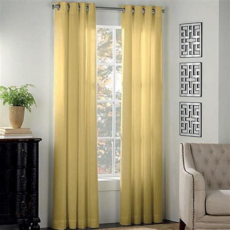 buy newport 95 inch grommet window panel in yellow from