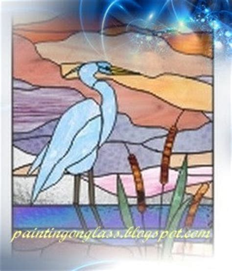 stained glass pattern blue heron stained glass blue heron pattern painting on glass