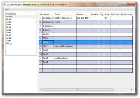 simple database easy database
