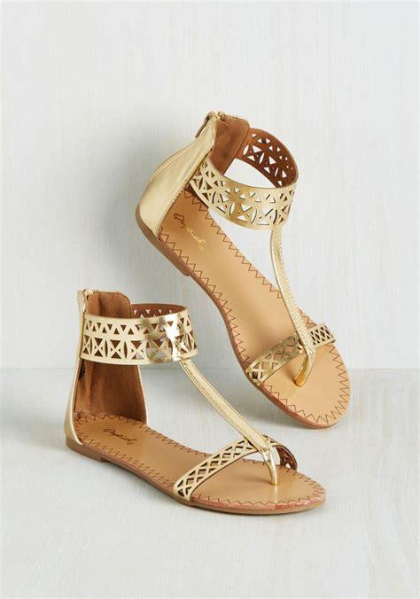 Golden Flats by Best 25 Gold Sandals Ideas On Fancy Sandals