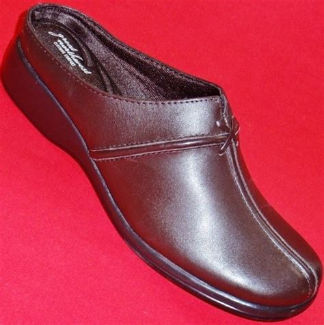 new s nw magnolia brown slip on casual wedge mules