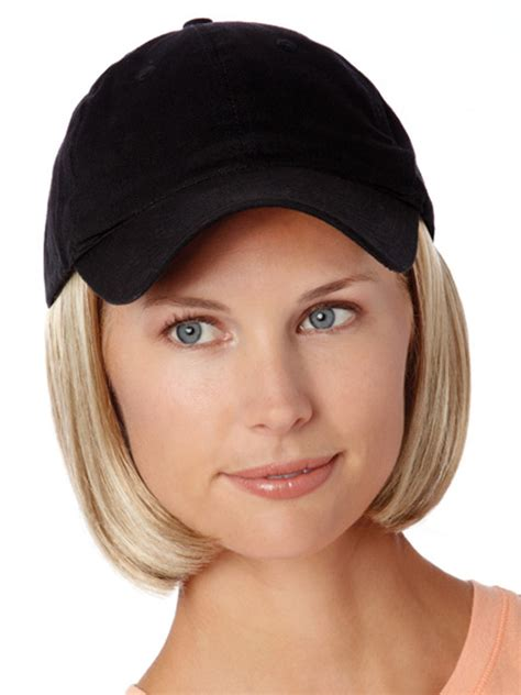 short hairstyle preparing for chemo wigs with hats costume and wigs